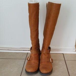 BCBGeneration Shoes - BCBGeneration Leather Knee Boots Size 40/10B